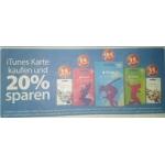 -20 % auf alle iTunes/AppStore – Karten von 04. – 10.09. bei Müller