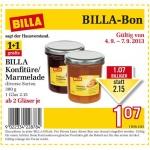 neuer Billabon: BILLA Marmeladen und Konfitüren 1+1 gratis