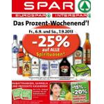 Neue Sortimentsaktionen (z.B.: -25% auf alle Spirituosen bei Spar, Interspar, Eurospar)