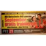 FIT21 – den ganzen September gratis trainieren