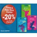 Minus 20% auf iTunes und App Store Karten bei Libro