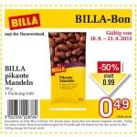 neuer Billabon: BILLA pikante Mandeln um 49 Cent statt 99 Cent
