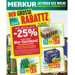 Neue Sortimentsaktionen (z.B.: -25% auf das gesamte Biersortiment bei Merkur, Interspar & Eurospar)
