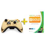 XBOX 360 Controller Chrome Gold + 12 Monate XBOX Live Gold um 59 Euro