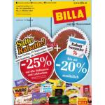 Neue Sortimentsaktionen (z.B.: -25% auf alle Süßwaren und Lebkuchen bei Billa)