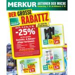 Neue Sortimentsaktionen (z.B.: -25% auf das gesamte Gesichts- & Körperpflege-Sortiment bei Merkur)