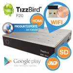 TizzBird F20 Media Player mit Android Smart TV inkl. Versand um 45,90 Euro