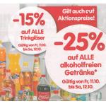 -25 % auf alle alkoholfreien Getränke bei Spar/Eurospar/Interspar von 11. bis 12.10.