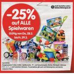 Interspar: 25% Rabatt auf Spielwaren (inkl. Interspar.at) ab morgen 10. – 23. Oktober 2013