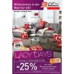 Kika: Lady Days am 11. & 12.10.2013 – u.a. -25% auf einen Artikel sparen