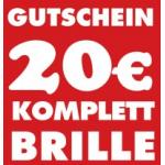 20 Euro Gutschein auf optische Komplettbrillen bei Sunglasses Outlet