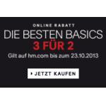 H&M: 3 Basics kaufen und nur 2 bezahlen (leider nur für Damen)