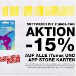 -15% auf alle iTunes und AppStore Karten in Post Filialen