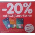 -20 % auf iTunes-Karten bei Interspar vom 24.7. – 26.7.2014