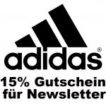 Adidas: 15 % Rabattgutschein für Newsletterregistrierung