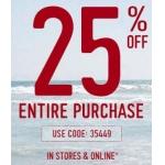 -25% auf alles bei Hollister im Online Shop