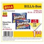Billa-Bon: 1+1 Gratis – Smarties Minis