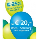 Westbahn: Gutscheine – z.B.: Wien – Salzburg um 19,90 Euro