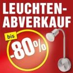 Leuchtenabverkauf bei Baumax: bis zu -80%