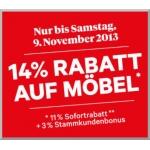 Interio; 14% Rabatt bis Samstag, den 9. November 2013