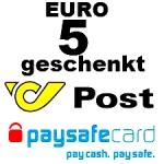 Paysafecard: 5 Euro geschenkt (gültig von 11.11 bis 1.12.2013)