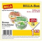 Billa-Bon: -25% auf Bresso Frischkäse