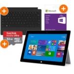 Microsoft Surface 2 32GB + Surface Type Cover2 + 32GB SD Karte + 25 €  Guthaben um 453,99€