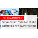 Adobe: Photoshop CC + Lightroom 5 um nur 12,29€ pro Monat