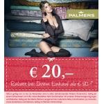€ 20,- Rabatt bei Palmers