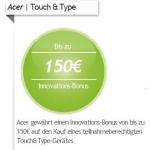 Acer: Bis zu 150 Euro Cashback beim Kauf von bestimmten Notebooks und Tablets