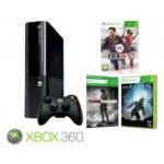 Saturn: MICROSOFT Xbox 360 250GB + FIFA 14 + Halo 4 + Tomb Raider + 1 Monat Xbox Live