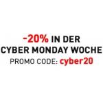 Puma: -20% im Onlineshop während der Cyber Monday Woche (auf 500 Codes per Tag beschränkt)