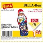 neuer Billabon: Smarties Klapper-Klaus um 1,29€