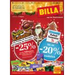 Neue Sortimentsaktionen (z.B.: -25% auf alle Süßwaren (inkl. Lebkuchen, Nikolo- & Weihnachtsware) bei Billa)