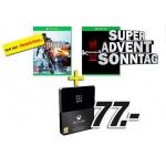 Media Markt:  Super-Advent-Sonntag am 30.11. und 1.12. 2013 (zB.: Xbox Live gold Mitgliedschaft plus Battlefield 4 für Xbox One um 77 €)