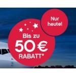 Bis zu 50 Euro (2x 25 Euro) Rabatt für airberlin-Flüge – Sonnenziele (nur heute)