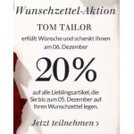 Tom Tailor: -20% am 6. Dezember 2013