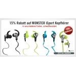 Monster iSport Sport-Kopfhörer nur heute 15% reduziert