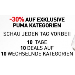 Puma XMAS Deals: – 30% auf exklusive Puma Kategorien bis zum 12.12.2013