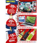 Metro: -20% auf lagernde Spielkonsolen, Games, Blu-rays, DVDs & CDs am 13. & 14. Dezember 2013 sowie weitere Aktionen