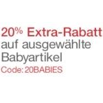 Amazon: 20% Extrarabatt auf ausgewählte Babyprodukte