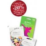Billa: -20 % auf iTunes- bzw AppStore-Karten bis 18.12.2013
