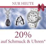 nur heute: -20% auf Schmuck & Uhren bei Universal.at sowie Ottoversand.at