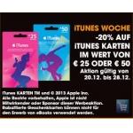 Libro: -20 % auf iTunes-Karten von 20. bis 28.12.2013