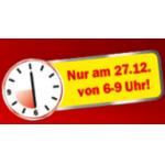 Mediamarkt Frühshopping am 27. Dezember 2013 von 6 Uhr bis 9 Uhr