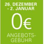 eBay – keine Angebotsgebühr vom 26. Dezember 2013 bis 2. januar 2014