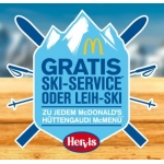 McDonald's: GRATIS Ski/Snowboard-Service oder Leih-Ski/Snowboard zu jedem Hüttengaudi McMenü