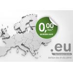Kostenlose .eu Domain im ersten Jahr bei domainfactory