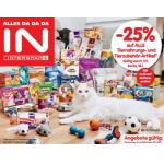 Neue Sortimentsaktionen (z.B. -25% auf die gesamte Tiernahrung bei Interspar & Spar)