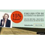 -15% im Douglas Online Shop auf alles (ausgenommen reduzierte Ware)